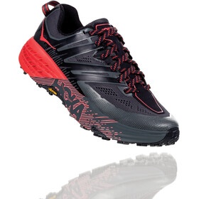 Hoka One One Speedgoat 3 Running Shoes Dame dark shadow/poppy red